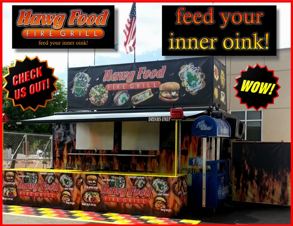 Hawg Food Fire Grill Great BBQ Carnival Food